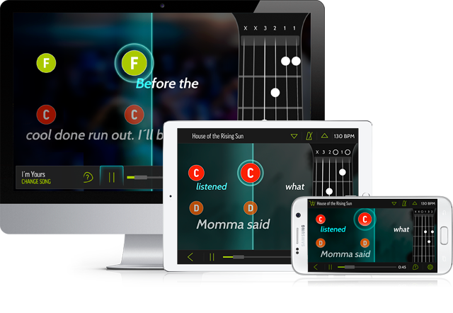 FourChords' makes playing along with friends or family easy.